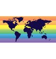 homosexual world vector image vector image
