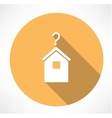 House with question mark icon vector image vector image