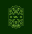 irish label vector image