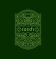 irish label vector image
