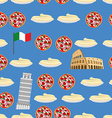 Italy seamless pattern Sightseeing leaning tower vector image vector image