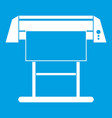 large format inkjet printer icon white vector image vector image