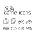 line game icons set on white background vector image vector image