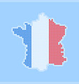 map of france - icon in modern style vector image vector image