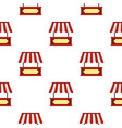market stall with red and white awning pattern vector image vector image