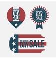 Memorial Day Sale design Elements Set vector image vector image