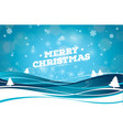 merry christmas with typography vector image vector image