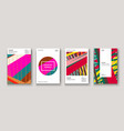 modern cover collection design abstract retro 90s vector image vector image