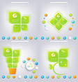Modern green infographic design with place for vector image vector image