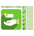 Money Payment Icon and Medical Longshadow Icon Set vector image vector image