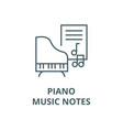 musicpianomusic notes line icon linear vector image