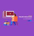 online education horizontal banner vector image vector image