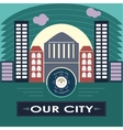 Our city vector image
