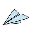 paper plane creativity idea icon vector image vector image