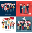 People At Demonstration Concept vector image