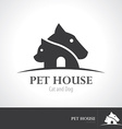 Pet house icon symbol vector image