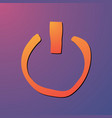 power button start icon sign flat design vector image