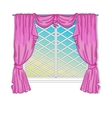 Princess Window With Curtains vector image