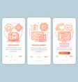 programming environment onboarding mobile app vector image vector image
