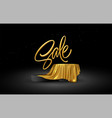 realistic 3d sale gold lettering with product vector image vector image