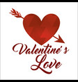 red abstract love arrow happy valentines vector image