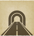 road through tunnel old background vector image vector image
