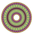 round frame with ethnic geometric pattern native vector image