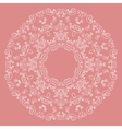 Round lacy pattern on pink background vector image