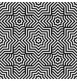 seamless moire pattern with waving circle lines vector image vector image