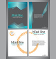 set of 4 template of book cover for vector image vector image