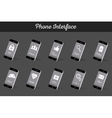 Set of Models Interface Smartphone vector image vector image