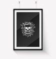 sketch angry skull line art vector image vector image