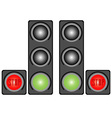 Traffic light with signs vector image