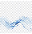 transparent blue wave of waterabstract waves vector image vector image