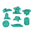 travel elements stickers stickers set isolated on vector image vector image
