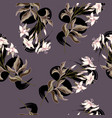 trendy seamless pattern of wild flowers vector image