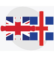 United Kingdom and Iceland Flags vector image vector image