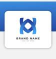 va av logo design inspiration vector image vector image