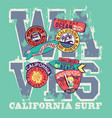 west coast california surf riders company vector image vector image