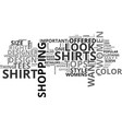 womens shirts text word cloud concept vector image vector image