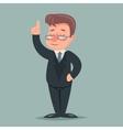 Pointing up Finger Businessman Idea Solution vector image