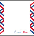 colored ribbon with the french tricolor vector image