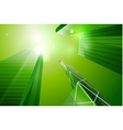 Green eco business city background vector image