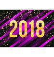 2018 happy new year background golden vector image vector image