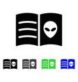 alien face book flat icon