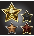 award star set vector image vector image