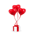 balloons and gift vector image vector image