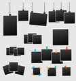 big set of square photo frames on sticky tape vector image vector image