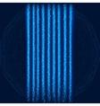 Blue Lightning Garland vector image vector image