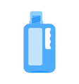 bottle of bleach isolated cleaner on white vector image